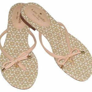New Kate Spade Mistic pink flip flops 7.5